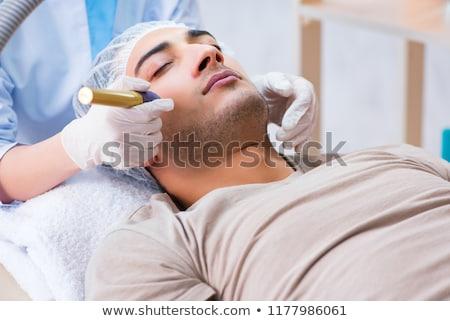 Femme laser cicatrice enlèvement visage médecin Photo stock © Elnur