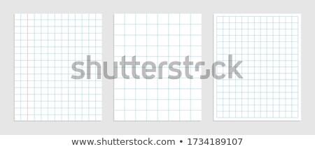 set of mathematics square paper in various sizes Stock photo © SArts