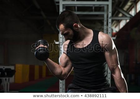 Jonge man triceps hand man lichaam Stockfoto © Jasminko