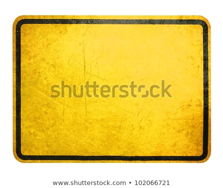 Attention, bright yellow warning sign on white Stock photo © evgeny89