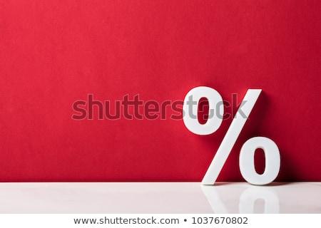 Pourcentage signe réduction taux comptable signature Photo stock © AndreyPopov