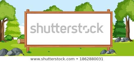 Vazio bandeira conselho natureza parque cenário Foto stock © bluering
