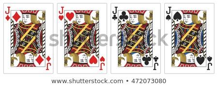 Pikk doboz fehér kártyák Stock fotó © posterize