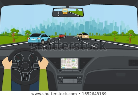 Stock photo: Vector - road leads to city
