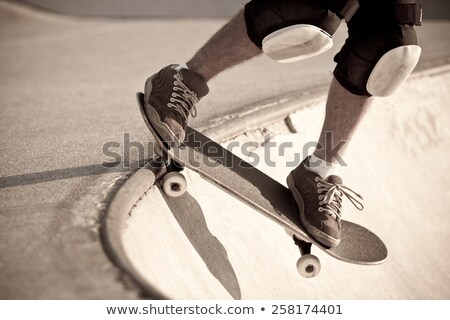 Stock photo: Skateboarder Skating The Bowl