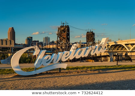 Cleveland, Ohio Highway Sign Stock photo © kbuntu