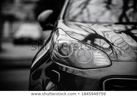 Fényszóró autó közelkép feketefehér sebesség lámpa Stock fotó © IMaster