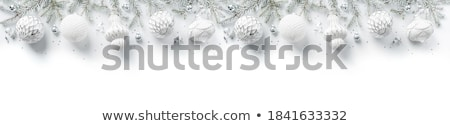 Christmas ball made from white snowflakes Stock photo © orson
