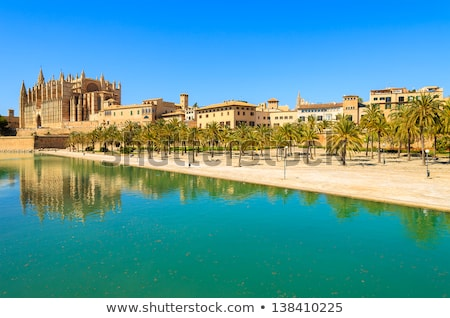 Majorca La seu Cathedral and Almudaina from Palma Stock photo © lunamarina