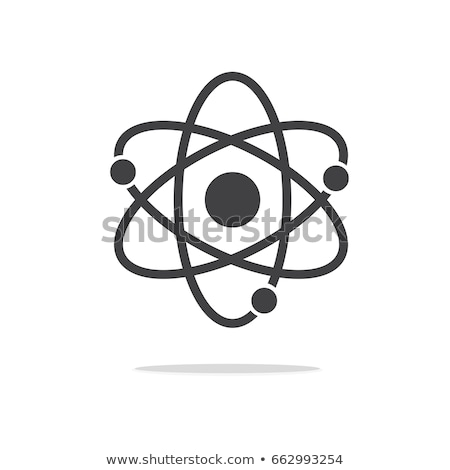 átomo dramático preto fluorescente sombra azul Foto stock © fenton