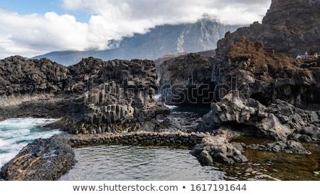 Tenerife kanarya ada İspanya deniz çöl Stok fotoğraf © arocas