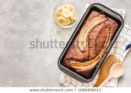Muz ekmek taze dilimleri tereyağı Stok fotoğraf © fotogal
