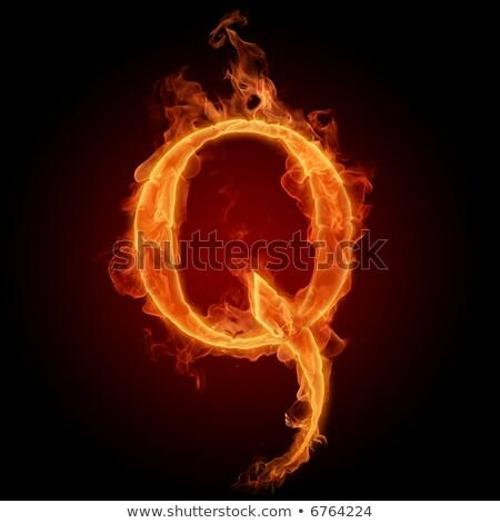 Fiery font. Letter Q Stock photo © dvarg
