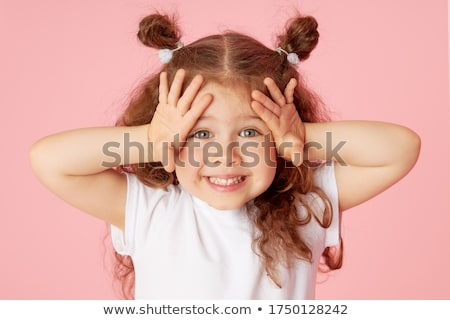 Funny happy little toddler girl Stock photo © phakimata