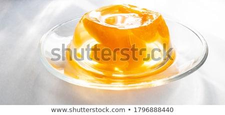 желе · стекла · изолированный · белый · продовольствие - Сток-фото © gladcov