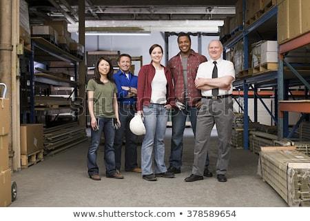 Cols bleus travailleur portrait heureux Homme médecin Photo stock © pressmaster