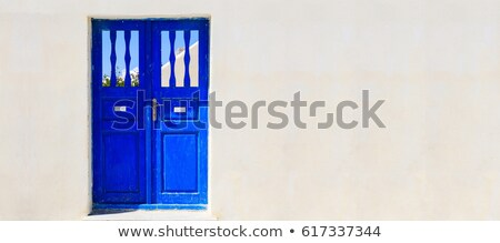 old white wall with doors stock photo © taigi