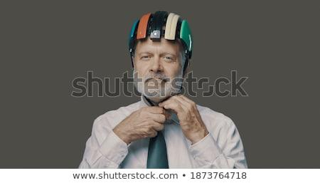 シニア · プロ · 建築 · 男性 · ヘルメット · 見える - ストックフォト © photography33