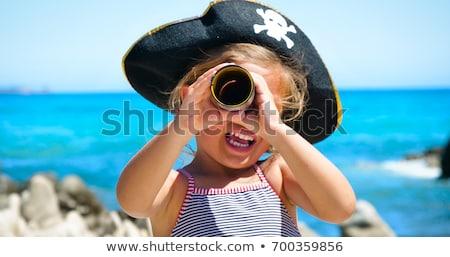Halloween Pirate Girl stock photo © lisafx
