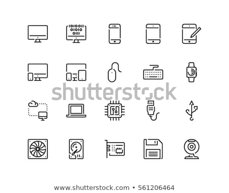 Computador tecnologia ícones servidor monitor Foto stock © soleilc