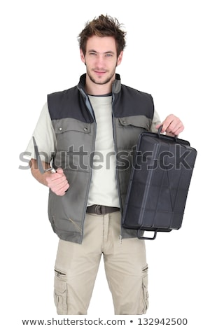 Tile fitter posing with his building supplies Stock photo © photography33