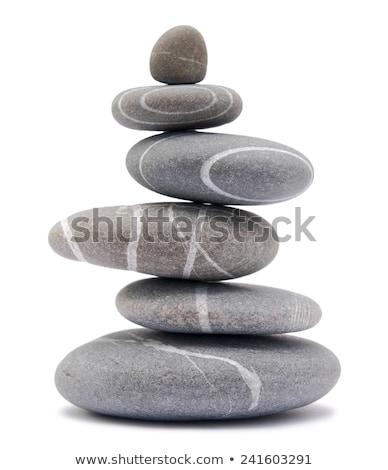 Isolated zen stone Stock photo © ozaiachin