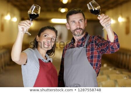человека бренди погреб стороны вино Сток-фото © photography33