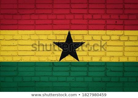 Flag of Ghana on brick wall Stock photo © creisinger