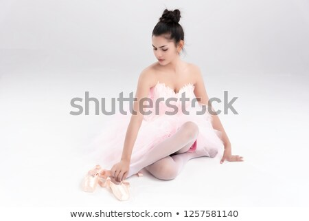 ballerina sitting disappointed stock photo © feedough