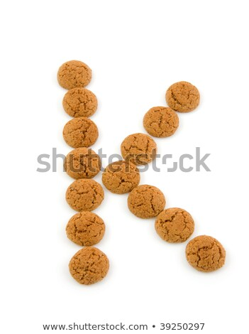 Foto stock: Ginger Nuts Pepernoten In The Shape Of Letter K