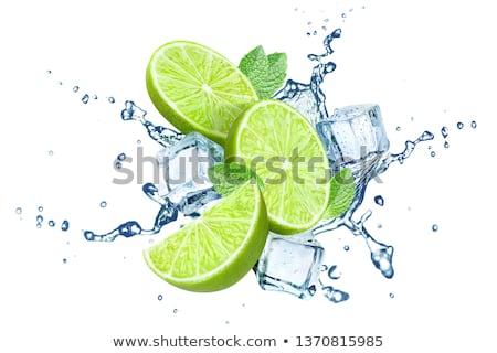 lime in spray of water Stock photo © ozaiachin