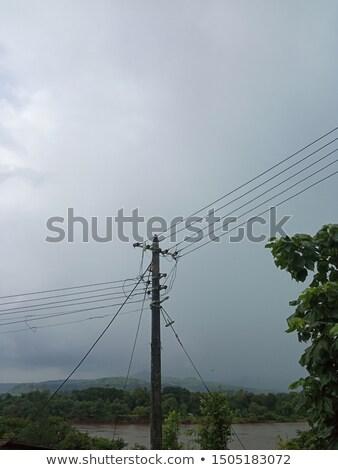 Rommelig transformator Indië business straat draad Stockfoto © haraldmuc