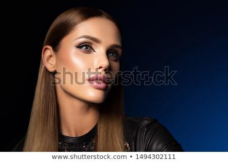 Mode vrouw oog make-up visie oog gezicht Stockfoto © Kurhan