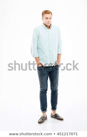 Portrait of the bizarre young man. Isolated on white Stock photo © acidgrey