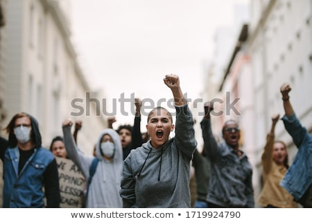 group of protesters stock photo © sumners