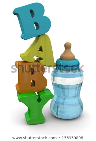 3d feeding bottles stock photo © 3dmask