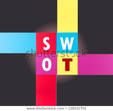 SWOT word on real paper Stock photo © Ansonstock