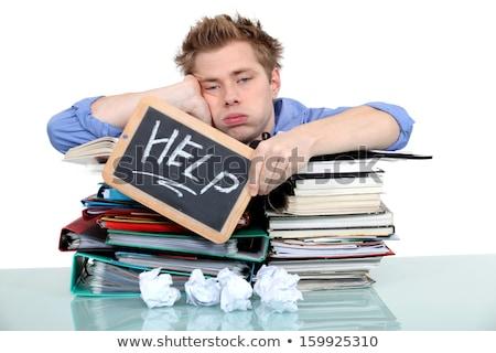 Diák munka asztal notebook asztal segítség Stock fotó © photography33