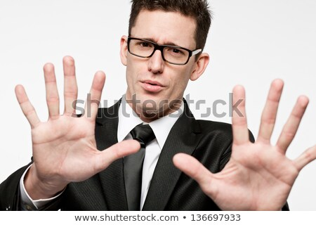 Businessman making stop gesture stock photo © photography33