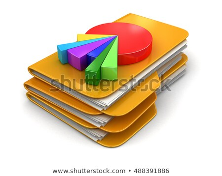 Business graph and folder in chart	 Stock photo © 4designersart