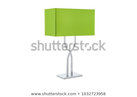 metalic green table lamp isolated on white background Stock photo © shutswis