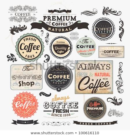 Klasszikus címke kávéház eps10 étel terv Stock fotó © Larser