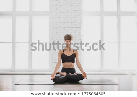 Fit Woman Practicing Yoga Exercice Stock photo © rognar