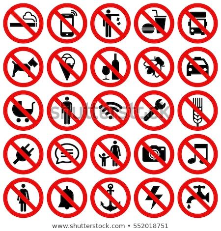 Baba tilos felirat gyerekek tilos fiatal Stock fotó © Aiel