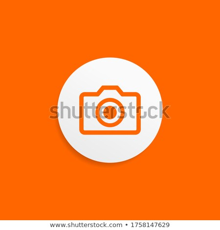 Orange shaped snapshot logo stock photo © shawlinmohd