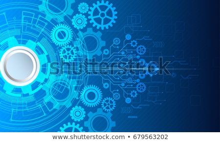 3D · mavi · diş · ikon · beyaz · teknoloji - stok fotoğraf © zebra-finch