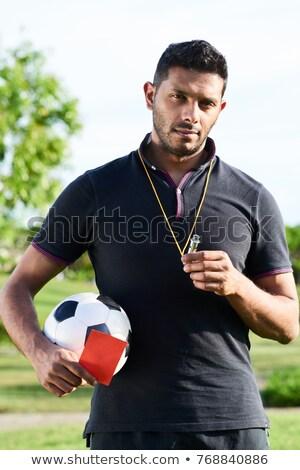 Portre hakem beyaz spor futbol Stok fotoğraf © vankad