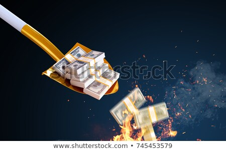 Dustpan throwing money Stock photo © vtupinamba