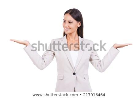 случайный женщину оба рук бедра молодые Сток-фото © feedough