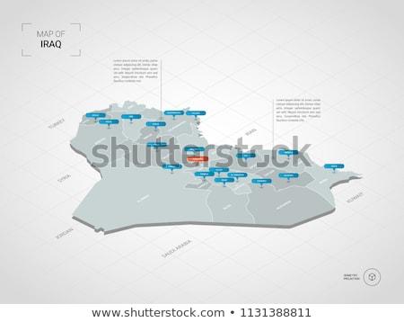 Contorno Iraque mapa administrativo cidade asiático Foto stock © Volina